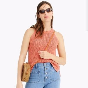 NWT J. Crew | Dusty Peach Knit Sweater Tank Top XL